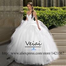 Luxury Ball Gown Wedding Dresses Plus Size robe de mariage 2016 Romantic vestido de noiva Ruched Court Train Wedding Gown DS194(China (Mainland))