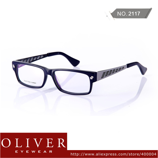 Wholesale!2013 Fashion Eyeglasses Men Acetate + Stainless Steel Patchwork Optical Frame Eyewear Brand 2117 Free Shipping!