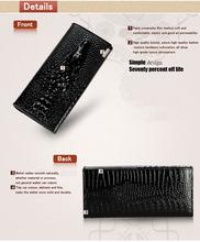 women wallets Alligators Genius Leather Cowhide Fashion 2015 New Brand Long Design 3D Pattern Ladies Clutch