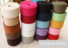 2017 DIY Cloth Cotton+Polyester Thickening Ribbon Bags Webbing Solid Color Botticing 2.0 2.5 3.2 3.8cm (10 meters/lot) 50%OFF(China (Mainland))