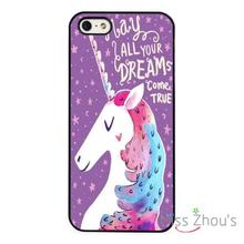 Dreams Unicorn Cute Magical back skins mobile cellphone cases cover for iphone 4/4s 5/5s 5c SE 6/6s plus ipod touch 4/5/6