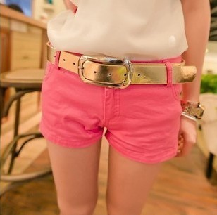 Kaka multicolour candy color casual denim shorts  -  merry xu's store store