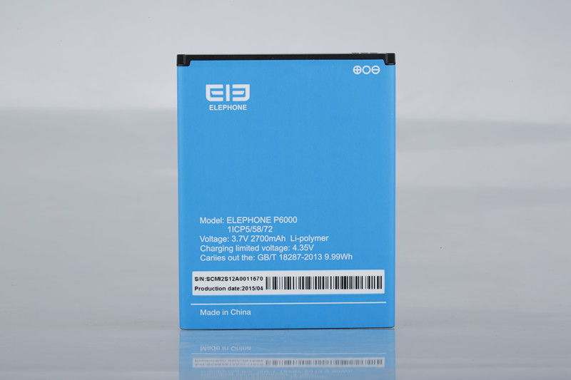 Original Phone battery 3 7V 2700mAh Rechargeable Lithium ion Battery for Elephone P6000 Smart Phone