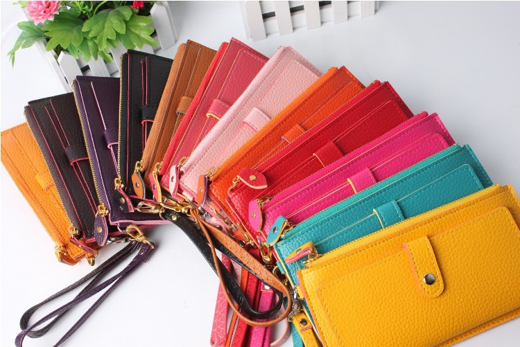 Women Wallets Special Offer Hasp Women Solid Nylon Pu Long Bag Wallets 2015 New Wallet+pu Leather Wallet+women Purse 10 Colors(China (Mainland))