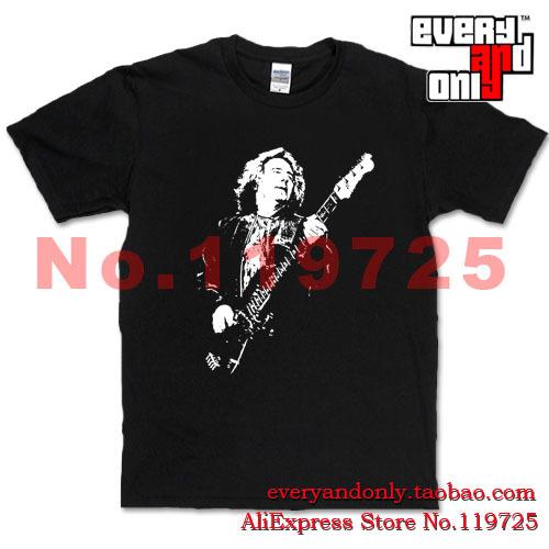 High Quality Geezer Butler Musician Heavy metal Cotton Casual Print T-shirt Tee Blues Rock Cloth Hard Rock England(China (Mainland))