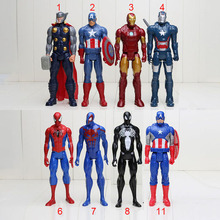 30cm American Movie Anime Super Heros Captain America Ironman Spiderman The First Avenger Superhero PVC Figure Toy(China (Mainland))