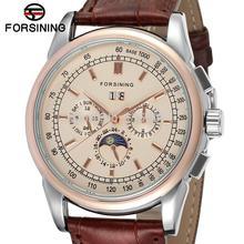 Fsg319m3t2 recién llegado hombres automáticos vestido reloj de pulsera con la luna enteros venta de la promoción precio envío gratis con caja de regalo