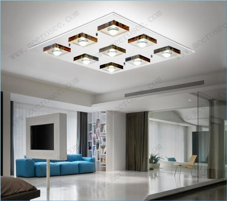 Modern Ceiling Lights Hallway : Modern led ceiling light fixture glass lamp