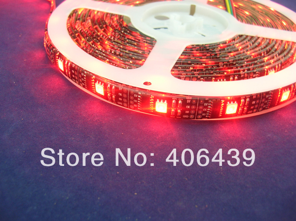 WS2801 32leds/m led pixel strip 5m/reel,WS2801 IC(256 scale,8 bit),32pcs 5050 RGB leds/m,waterproof IP65,DC5V input,Black PCB(China (Mainland))