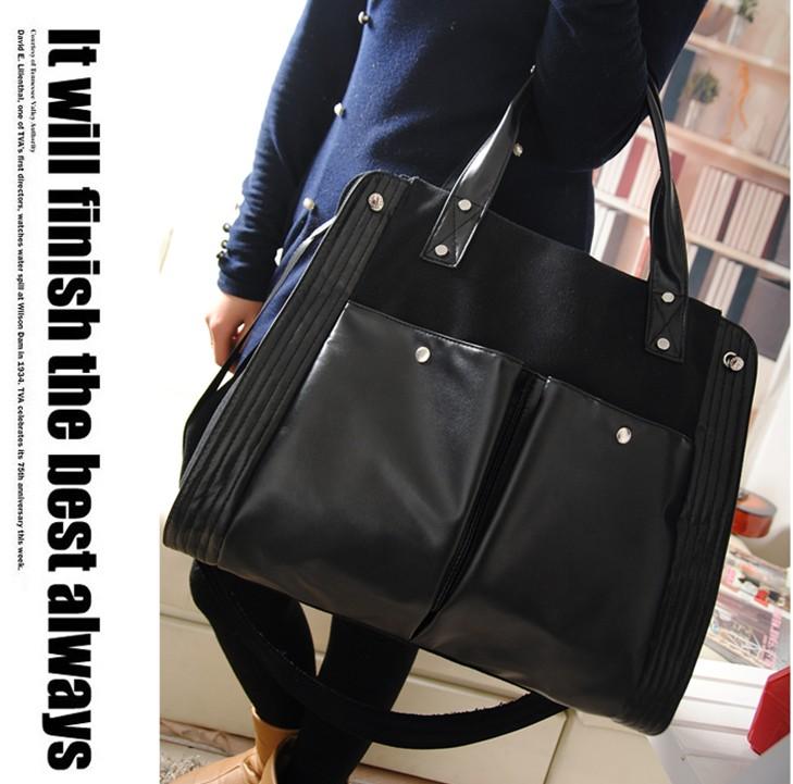 Free shipping female vintage shoulder bag messenger bag canvas bag handbag women's fashion all-match casual bags large(China (Mainland))