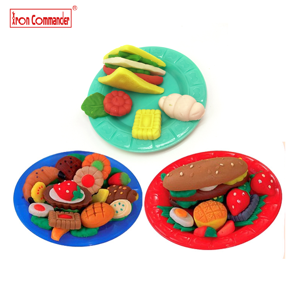 Iron Commander 5 colors Sandwich Color Clay Plasticine Playdough Toys Modeling Mould Play Dough Tools Mold Toys gift for kids 04(China (Mainland))
