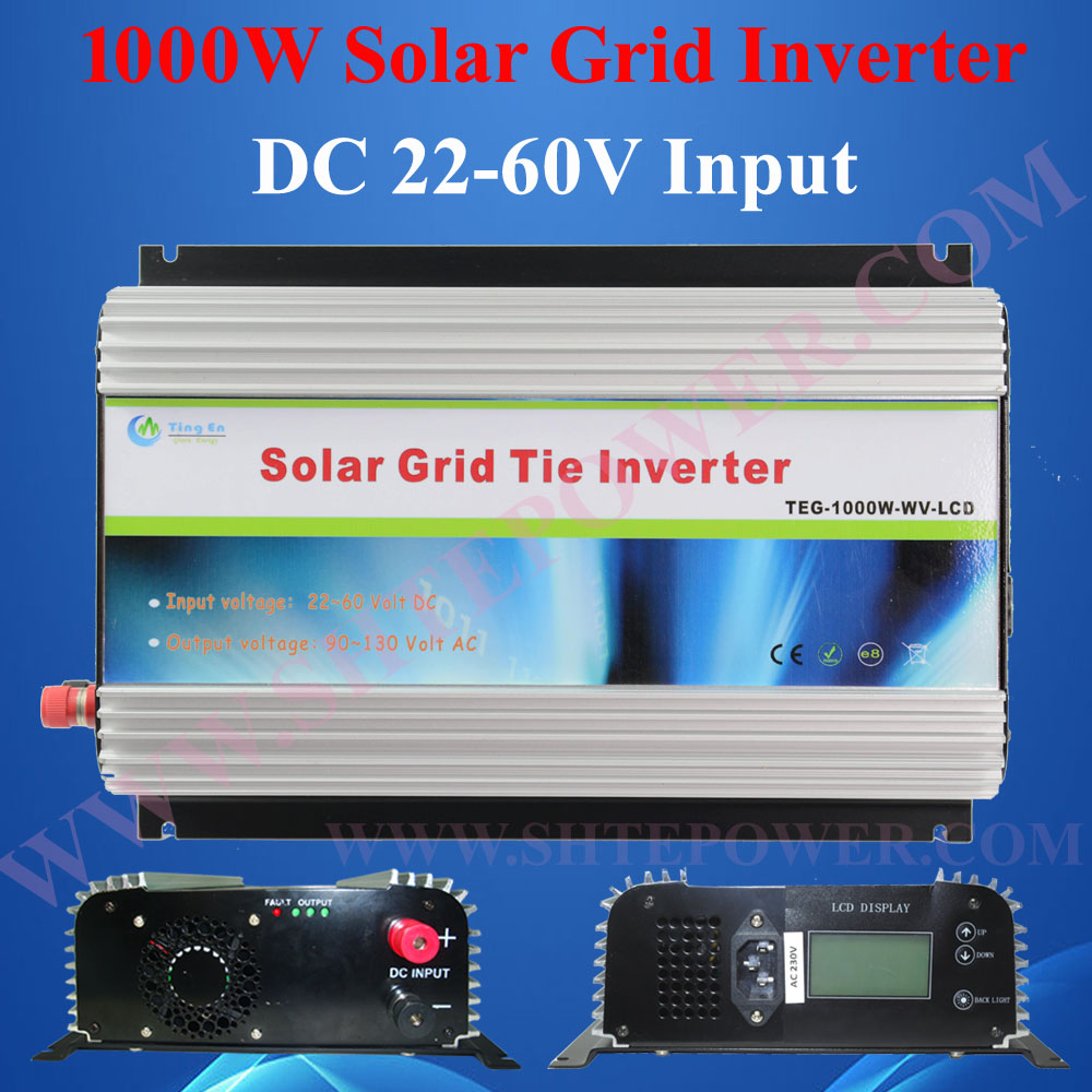 grid tie solar power inverter 1000w ,dc to ac solar on grid inverter with lcd display(China (Mainland))