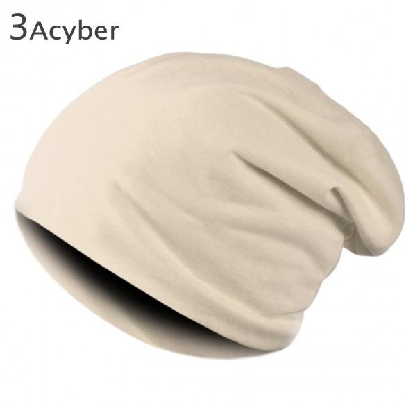 2015 New Fashion Winter Men Women Solid Color Elastic Hip-Hop Cap Beanie Hat Slouch 9 Colors One Size 41 - Shenzhen Cyber Technology Ltd. store