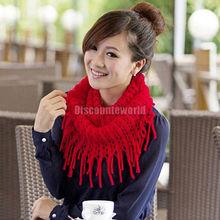 2015 Fashion Women Winter Warm Knit Wool Snood Scarf Cowl Neck Circle Shawl Wrap(fx251) Free shipping(China (Mainland))