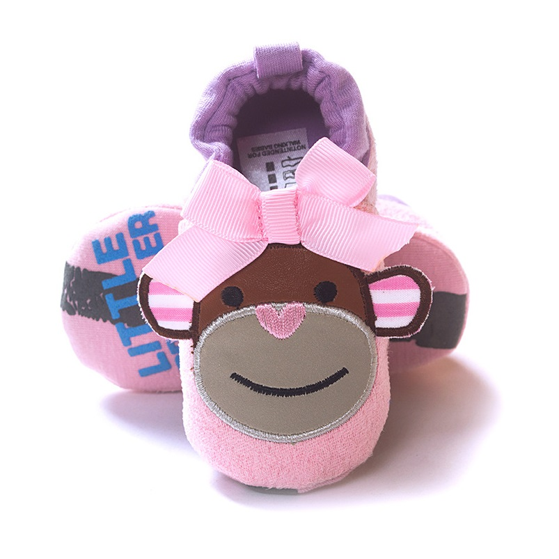 Pink Monkey Baby Girl Shoes Soft Sole Baby Sport Shoe Infant First Walkers Girls Shoe Bebe Moccasins(China (Mainland))