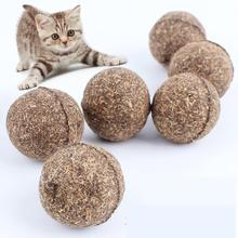 Cat Toy Natural Catnip Ball, Menthol Flavor, Cat Treats, 100% Edible Cats-go-crazy Treats(China (Mainland))
