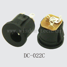 Free shipping 100pcs/lot female DC power charging socket pin2.0/2.5 without screw connector  DC022C(China (Mainland))