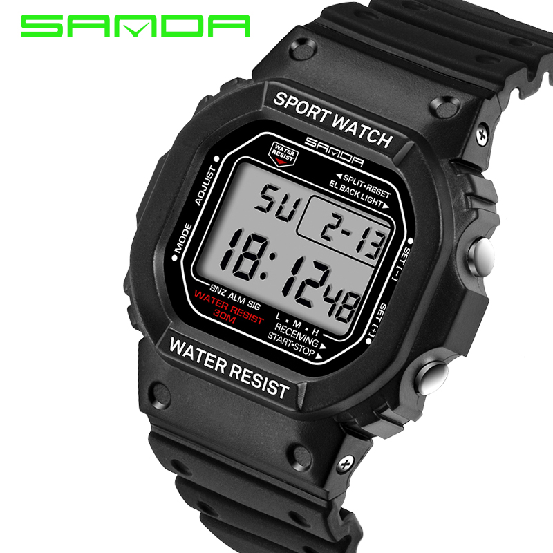 2017 New Sanda Lovers Sports Digital Wristwatch Military Teenager Student Boy Girl Fashion Outdoor Sporting Hours Relojes Mujer(China (Mainland))