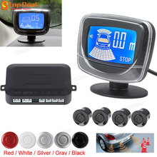 New 4 Parking Sensors Weatherproof LCD Dual CPU Reverse Parking Sensor Kit Reverse Backup Alarm Parking Assistance 5 Colors(China (Mainland))