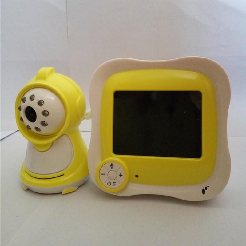 3.5 Inch LCD Display Camera Baby Monitor 2.4G Babysitting Mini Camera Visual Wireless Baby Care Monitors Two-Way Intercom Yellow(China (Mainland))