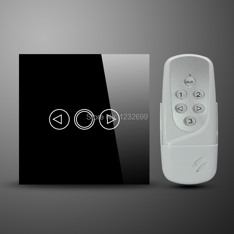 Smart Home UK Standartd Touch RF Remote Control 1gang Dimmer Switch with Crystal Glass Panel compatiable with broadlink rmpro(China (Mainland))
