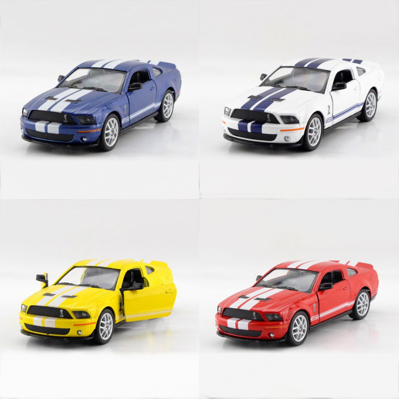 4 in 1 Kinsmart Mustang Shelby GT500 1/38 alloy models model car Sports car pull back car children's toys car Kids toy(China (Mainland))