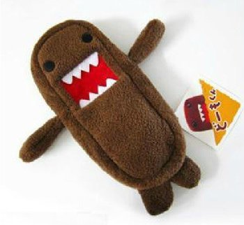 4PCS Cute Japan Domo Kun Plush Pen Pencil BAG Pouch Case Coin Purses & Wallet  , Cosmetics Beauty BAG Case , SACK Pack