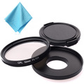 52mm CPL Filter Cap Adapter XCsource Cleaning Cloth For Gopro Hero 3 3 LF326