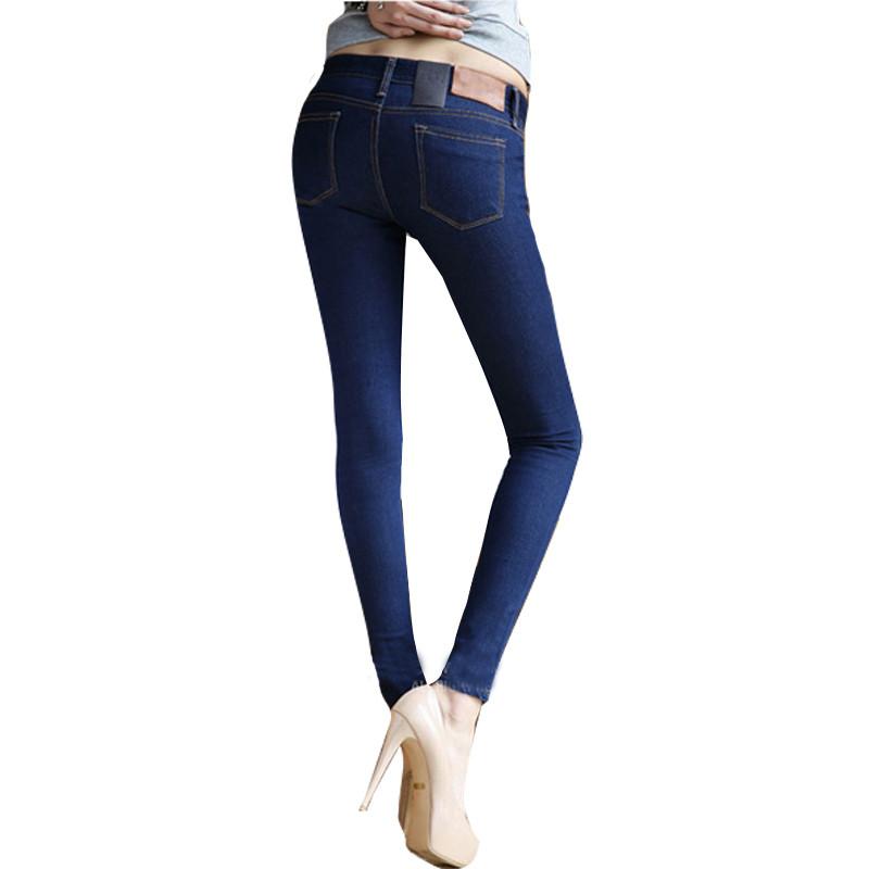 Female-Skinny-Pencil-Jeans-Pants-Solid-Blue-Black-Zipper-Big-Elastic-Slim-Jeans-Long-Trousers