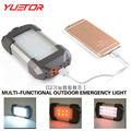 YUETOR high grade portable rechargeable camping lanterns USB line hook gift box set 21 white 6