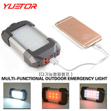 YUETOR high grade portable rechargeable camping lanterns+USB line+ hook+gift box set 21 white+6 red led  outdoor tent camp light(China (Mainland))