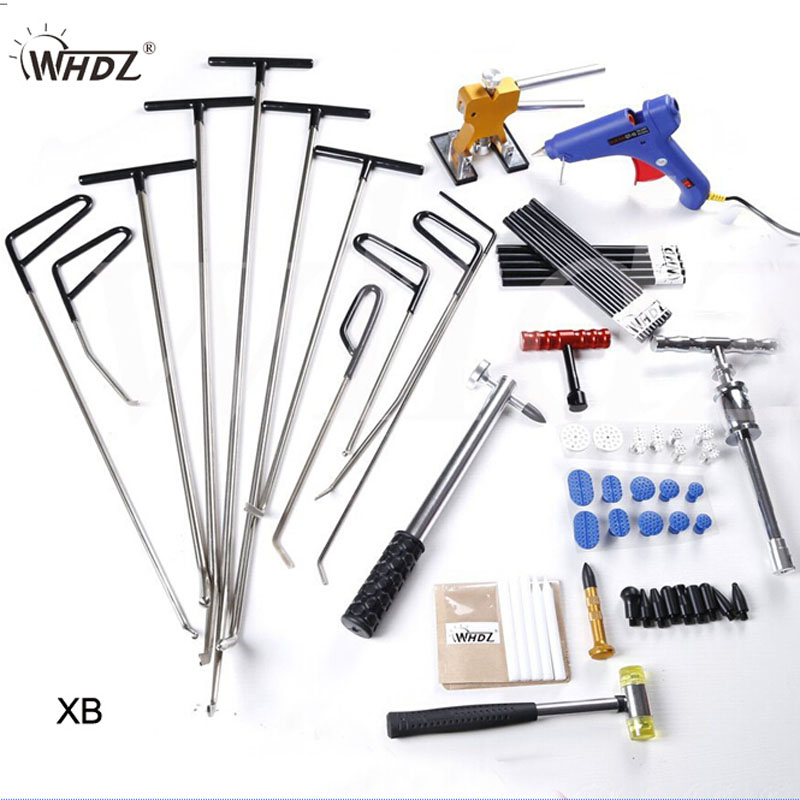 WHDZ Auto Body Dent Removal Pdr Rod Tool Kit -PDR Slide Hammer Gule Gun Dent Hammer Tap Down Handle Lifter Car Dent Repair Tools(China (Mainland))