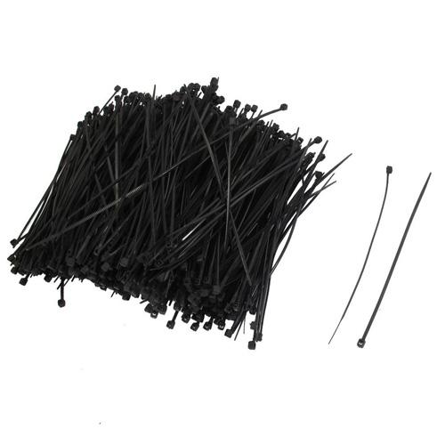 "Гаджет  1000 Pcs 110mm x 2 mm Self Locking Wire Cable Zip Tie 4.3"" Black None Электротехническое оборудование и материалы"