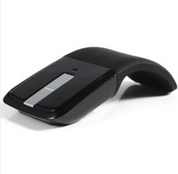 Free shipping New Arrival Wireless 2.4GHz Optical Mouse Arc Touch Scroll gaming mouse for laptop computer mause wireless