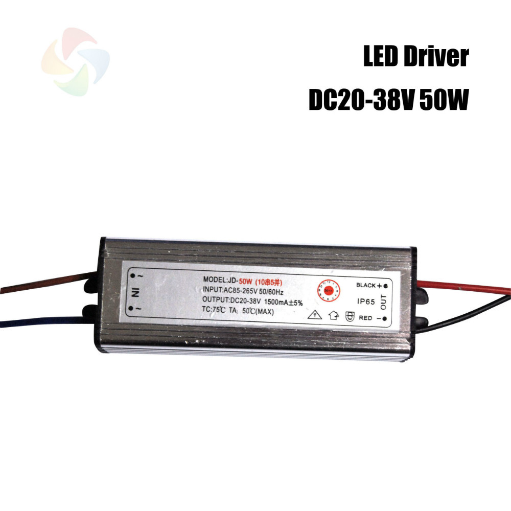 high quality led driver dc20 38v 50w 1500ma led power. Black Bedroom Furniture Sets. Home Design Ideas