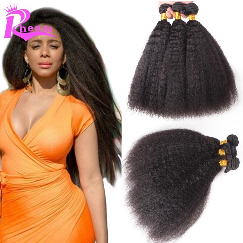 7A Cheap brazilian kinky straight hair 3 pcs lot yaki human hair bundles,unprocessed brazilian virgin hair extensions in stock<br><br>Aliexpress