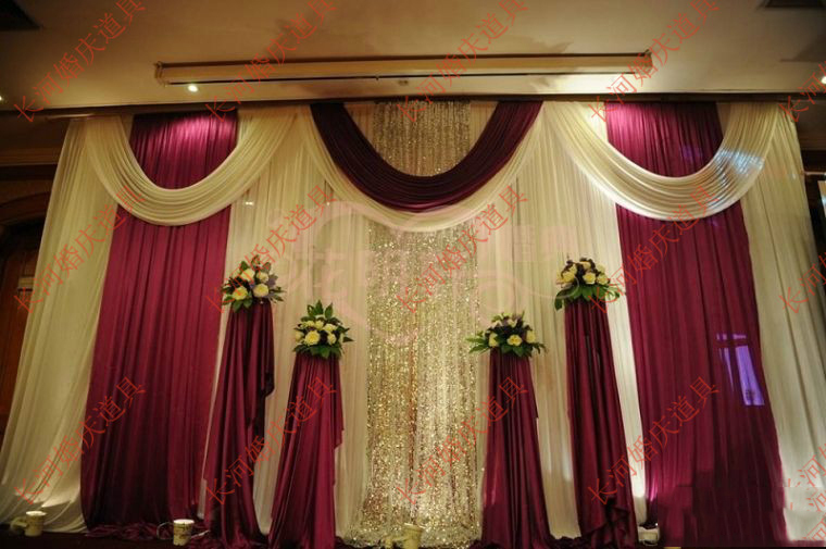 Wedding 3mx6m backdrop luxurious marriage stage background for Background decoration images