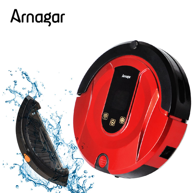 Arnagar Q1 Mini Vacuum Cleaner Robotic Vacuum Cleaner for Home Double Roling Brush,Wet Dry Vacuum Mop,Auto Charge Sweeping Robot(China (Mainland))