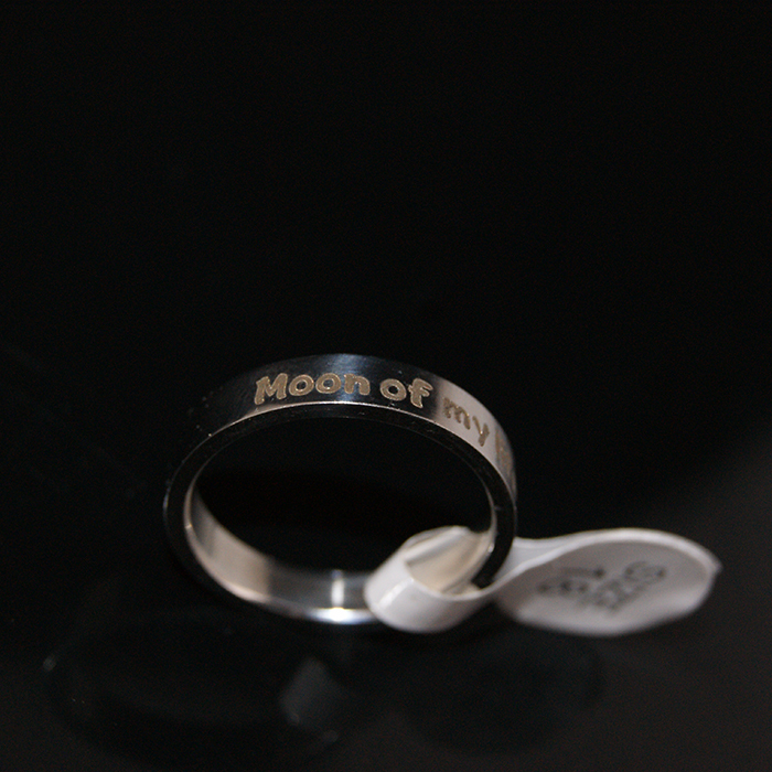 Customized Rings Stainless Steel,Moon of my Life rings, My sun and stars Stainless Steel rings, Can Engrave any Words ,Gift Ring(China (Mainland))