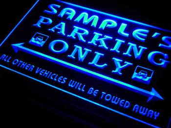 qo-tm Name Personalized Custom Car Parking Only Bar Beer Neon Light Sign