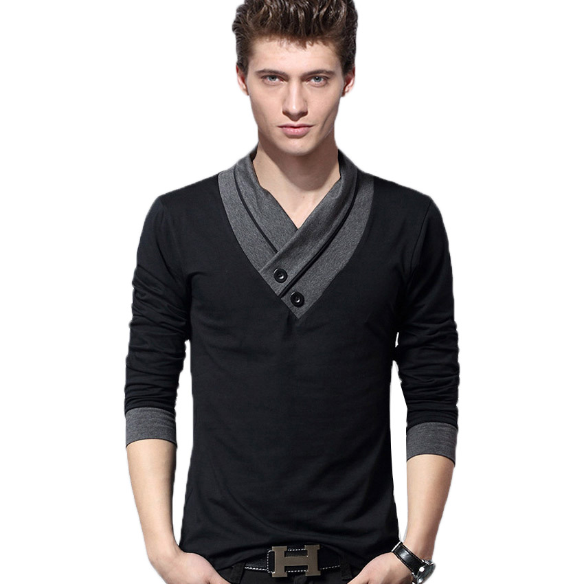 Free shipping t shirt 2016 spring mens long sleeved t for Mens t shirts free shipping