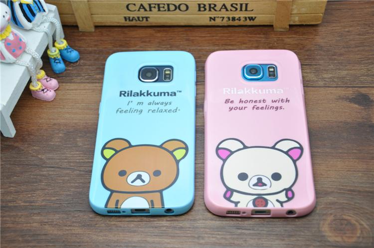 Rilakkuma Case For Funda Samsung Galaxy S6 Edge Cases TPU Silicone Carcasa Cartoon Coque For Capa Para Samsung S6 Edge Capinha(China (Mainland))