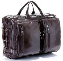Fashion Multi-Function Full Grain Genuine Leather Travel Bag Men's Leather Luggage Travel Bag Duffle Bag Large Tote Weekend Bag(China (Mainland))