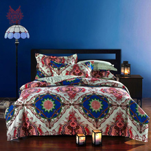Free shipping American Ethnic style bedding sets pure 100%cotton Bed sheet  duvet cover Pillowcase 4pcs/set bedding cama SP2344(China (Mainland))