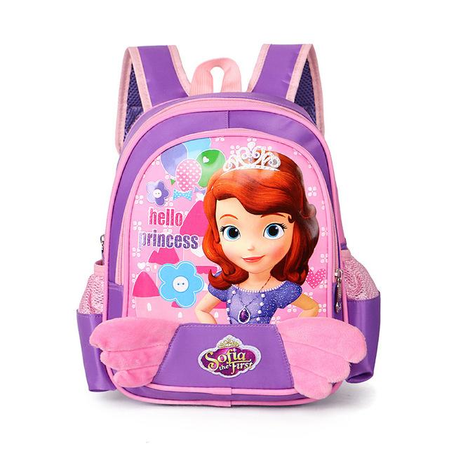 Новый милые девушки школьный мультфильм принцесса детей школьные сумки для девочек ...
