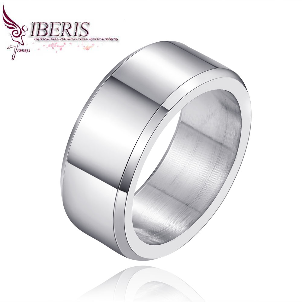 Iberis New fashion women silver cylindrical ring,316L stainless steel jewelry, elegant atmosphere advanced(China (Mainland))