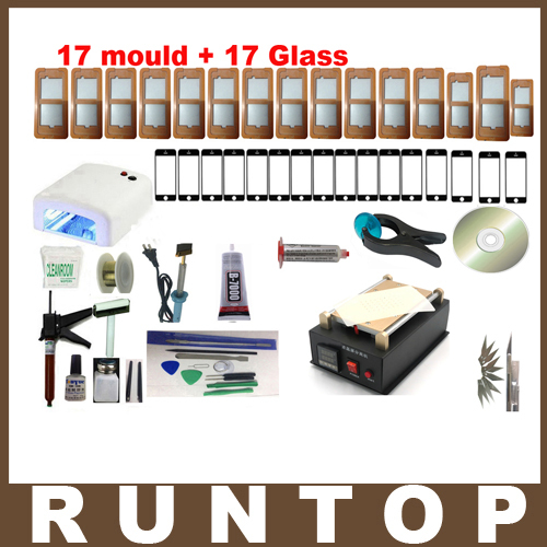 full set High Quality Mobilephone Built-in Pump Vacuum Metal Body Glass LCD Screen Separator Machine Max 7 inches + Cutting Wire(China (Mainland))