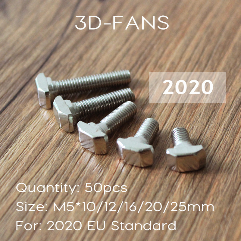 50Pcs M5*10/12/16/20/25mm Carbon steel T type Nuts Fastener Aluminum Connector For EU Standard 2020 Industrial Aluminum Profile(China (Mainland))