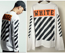 Buy Hip Hop Kanye West Tie-Dyeing VIRGIL ABLOH White 13 Stripe Men Long Sleeve High Cotton T shirts Summer GD T Shirts for $19.99 in AliExpress store
