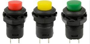 Brand New 5Pcs 12mm Locking Latching OFF- ON Push Button Car/Boat Switch(China (Mainland))